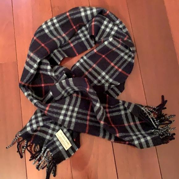 Blue Burberry scarf